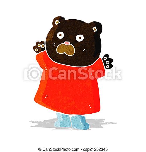 engraçado, pretas, caricatura, urso - csp21252345
