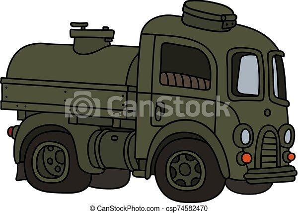 engraçado, tanque, antigas, militar, caminhão - csp74582470