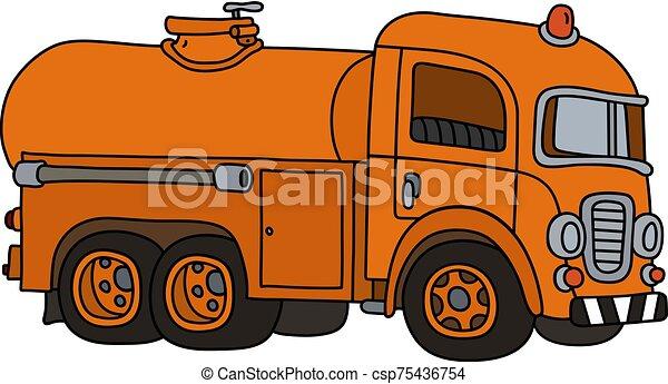 engraçado, tanque, caminhão velho - csp75436754