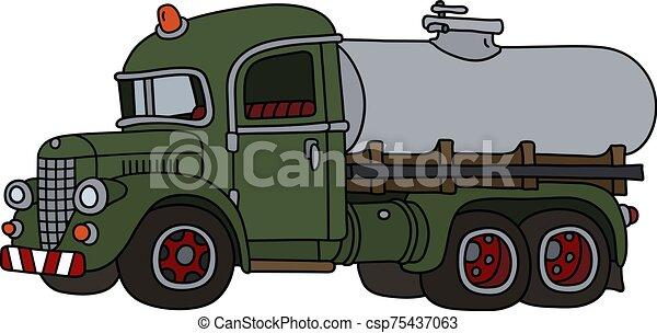 engraçado, tanque, vindima, caminhão - csp75437063