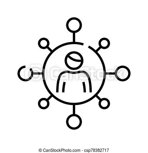 esboço, linha, vetorial, sinal, comunicação, ilustração, linear, símbolo., conceito, ícone - csp78382717