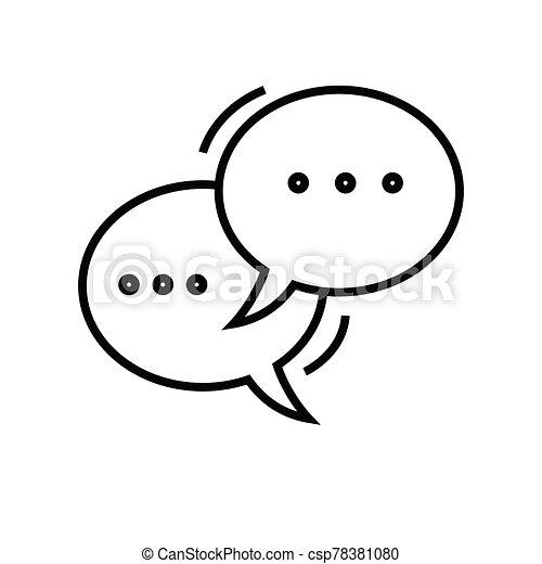 esboço, linha, vetorial, sinal, comunicação, ilustração, linear, símbolo., conceito, ícone - csp78381080