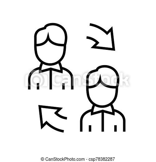 esboço, linha, vetorial, sinal, comunicação, ilustração, linear, símbolo., conceito, ícone - csp78382287