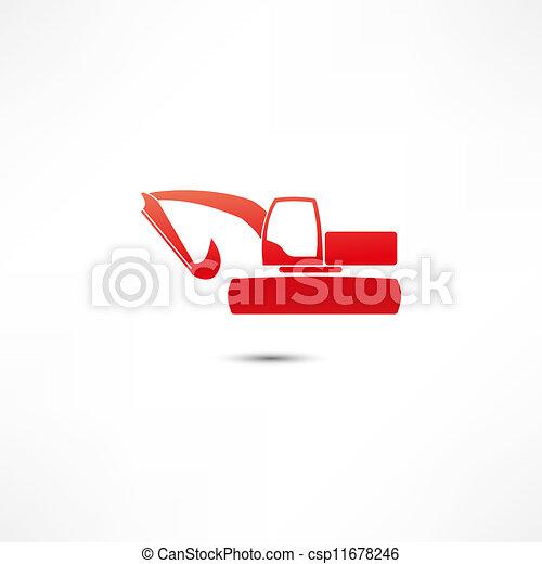 escavador, ícone - csp11678246