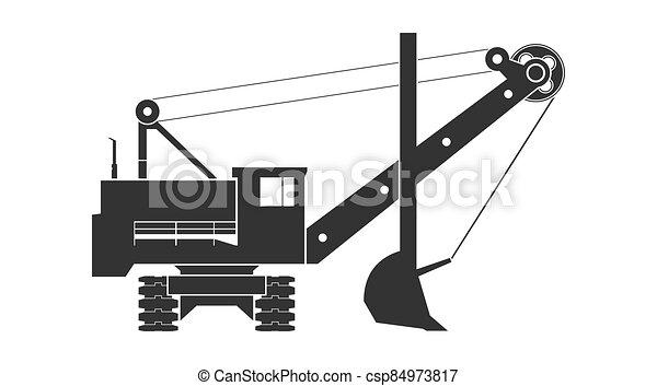 escavador, mineração - csp84973817