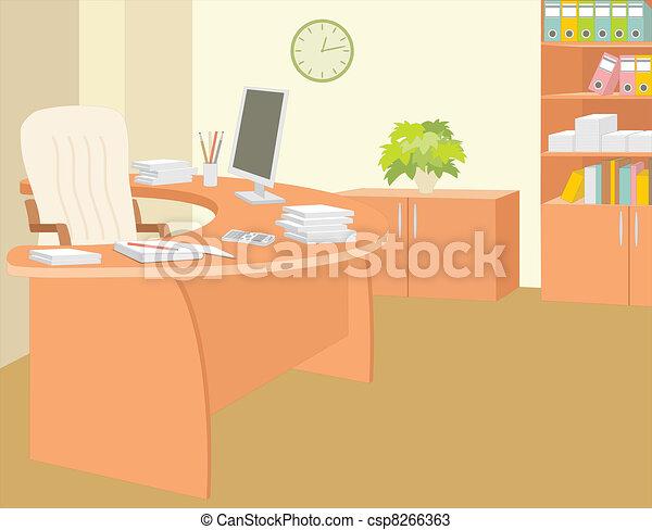 escritório, director. - csp8266363