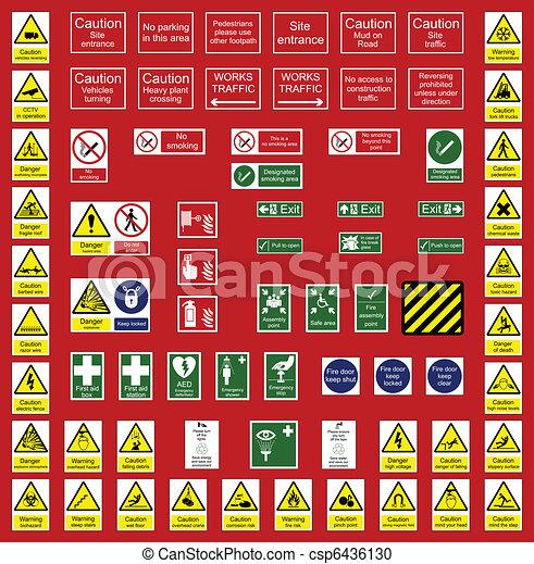 escritório, indústria, sinais - csp6436130
