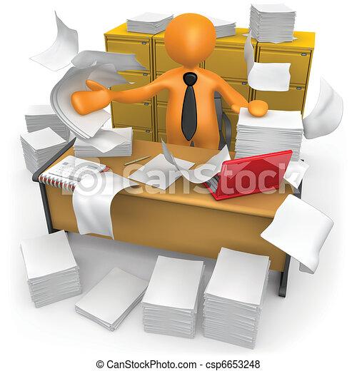 escritório sujo - csp6653248