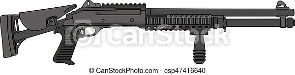 espingarda, bomba, pretas - csp47416640