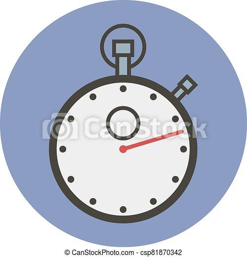 esportes, apartamento, estilo, vetorial, stopwatch. - csp81870342