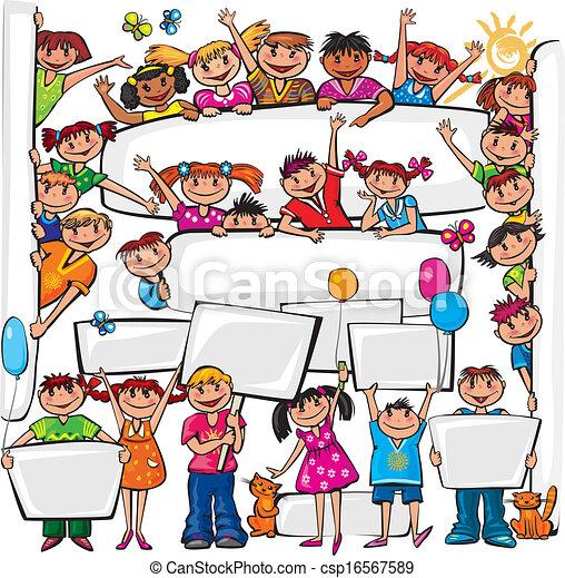 estar, jogo, painél publicitário, crianças - csp16567589