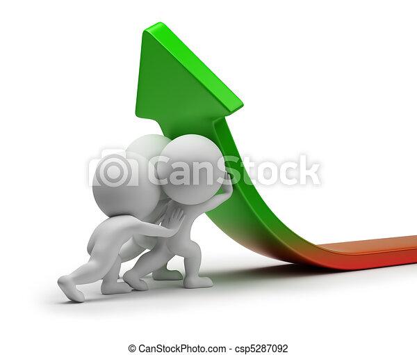 estatísticas, pessoas, -, melhoria, pequeno, 3d - csp5287092