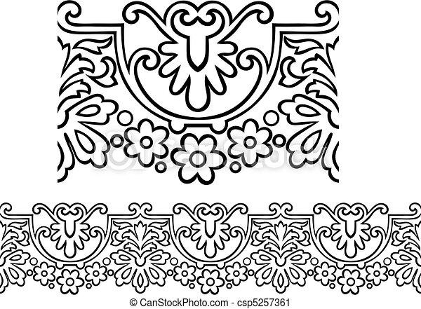estilo, vitoriano, borda, repetindo - csp5257361