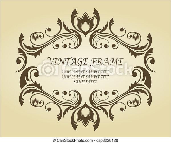 estilo, vitoriano, quadro, vindima - csp3228128