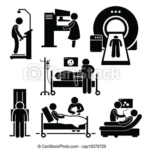 exame, hospitalar, médico, diagnóstico - csp19376729