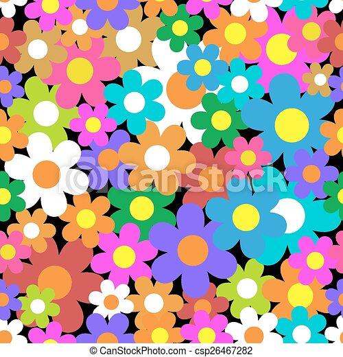 experiência., flor, pattern., seamless, coloridos - csp26467282