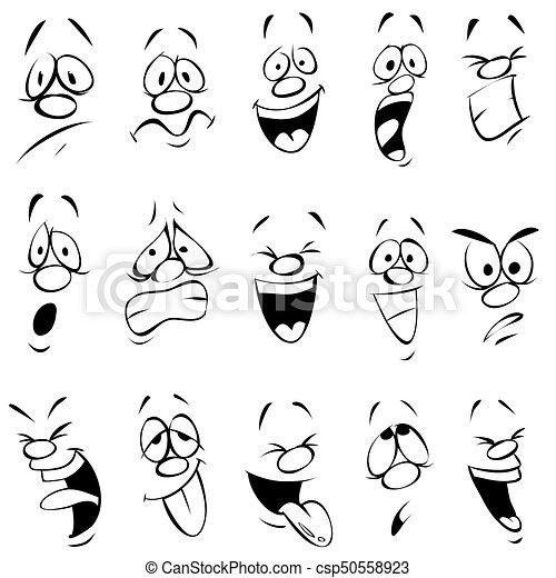 expressão, caricatura, facial - csp50558923