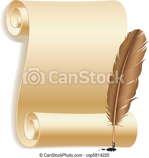 feather., papel - csp5814220