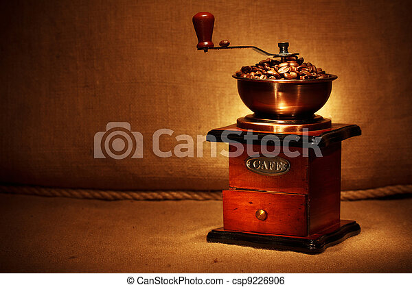 feijões, moedor café - csp9226906