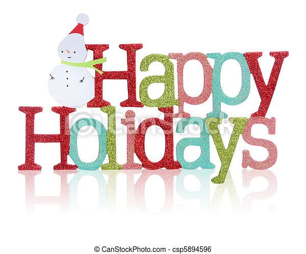 feliz, sinal, feriados - csp5894596