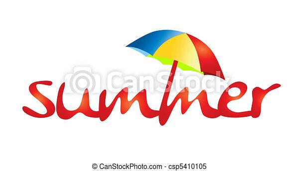 feriados verão, -, sombra, sol - csp5410105