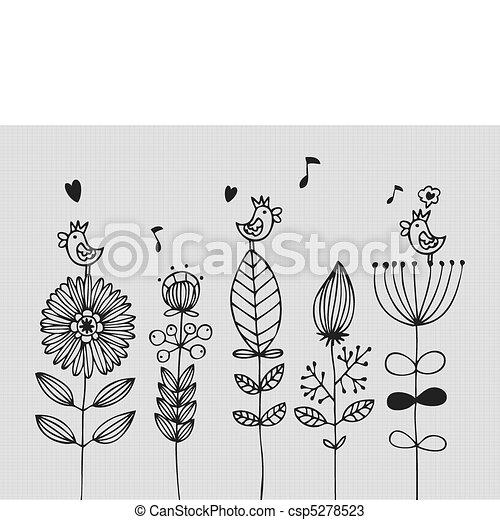 flor, cartão - csp5278523