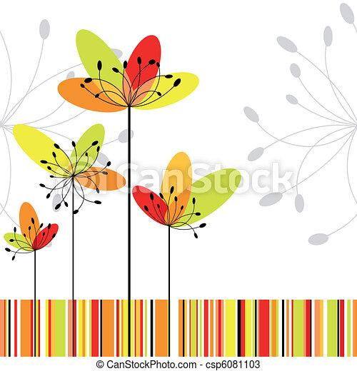 flor, coloridos, abstratos, springtime, listra, fundo - csp6081103