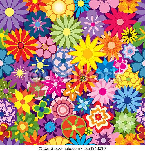 flor, coloridos, fundo - csp4943010