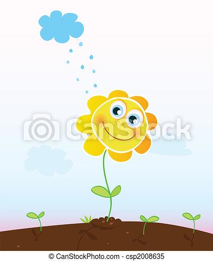 flor, feliz - csp2008635
