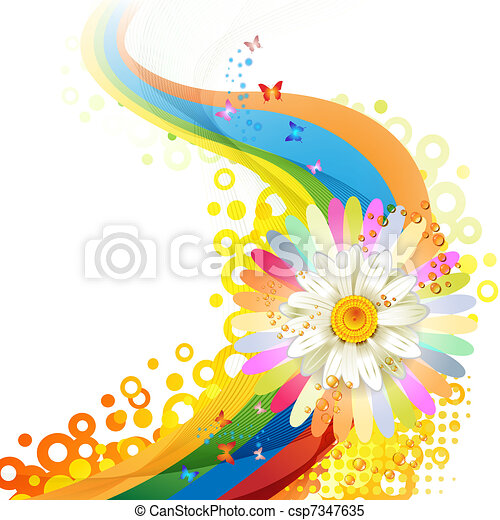 flor, fundo - csp7347635