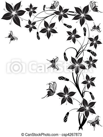 flor, fundo - csp4267873