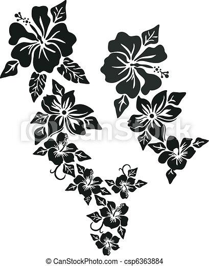 flor tropical, roupa - csp6363884