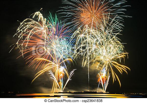 fogos artifício - csp23641838