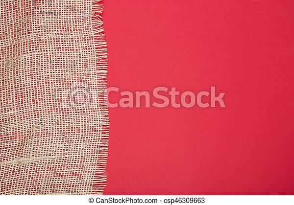 fragmento, burlap, experiência vermelha - csp46309663