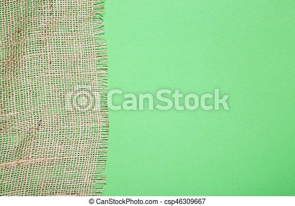fragmento, verde, burlap, fundo - csp46309667