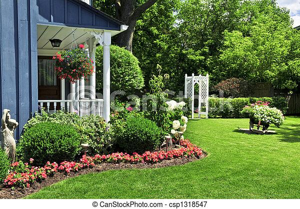 frente, casa, jarda - csp1318547