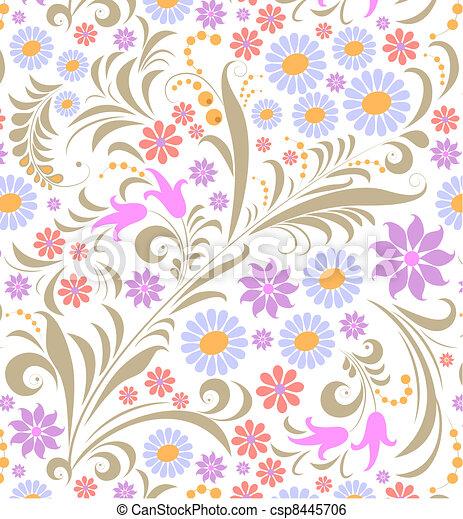 fundo, flor, branca, coloridos - csp8445706