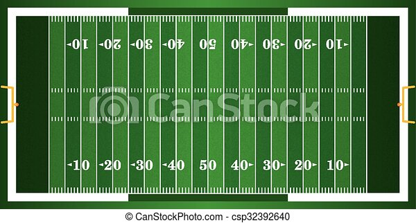 futebol, americano, capim, textured, campo - csp32392640