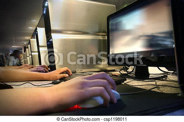 gaming, computador, café, internet - csp1198011