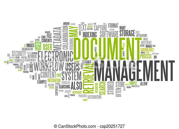 gerência, palavra, documento, nuvem - csp20251727