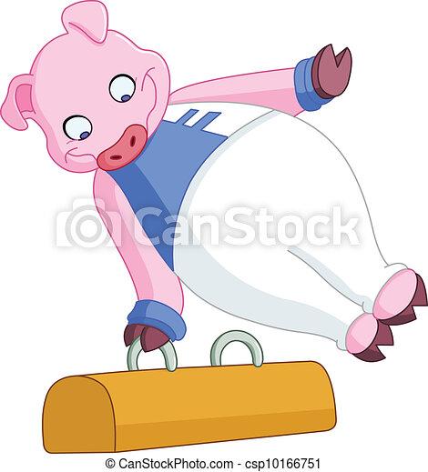 ginasta, macho, porca - csp10166751