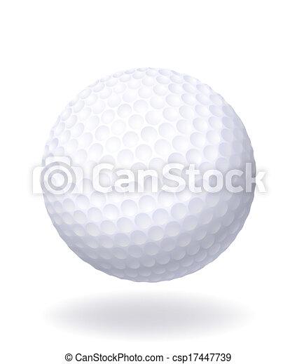 golf., bola branca, isolado, experiência. - csp17447739