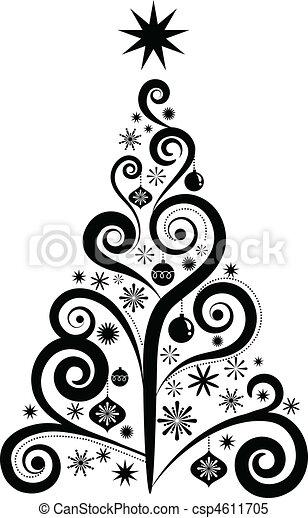 gráfico, árvore, natal - csp4611705