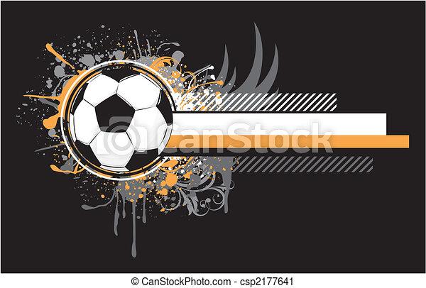 grunge, futebol, desenho - csp2177641