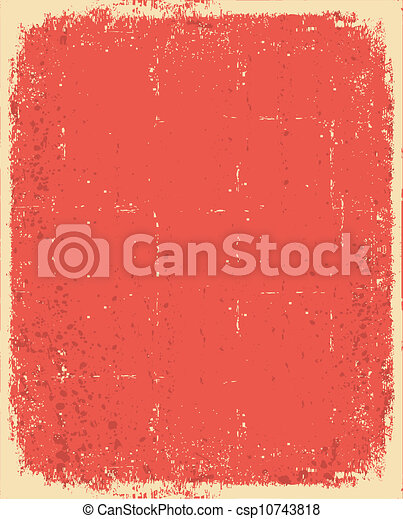 grunge, textura, texto, antigas, vetorial, paper., vermelho - csp10743818