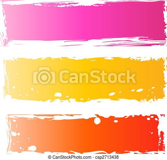 grungy, bandeiras, bonito, multicolored - csp2713438