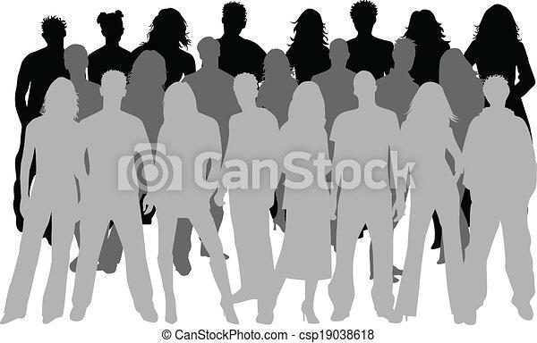 grupo grande, pessoas - csp19038618