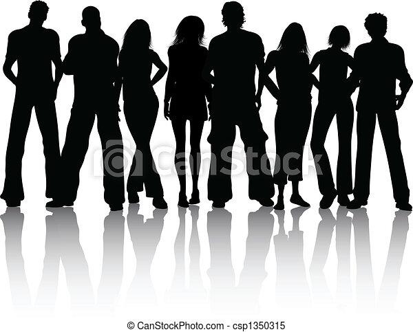 grupo, pessoas - csp1350315