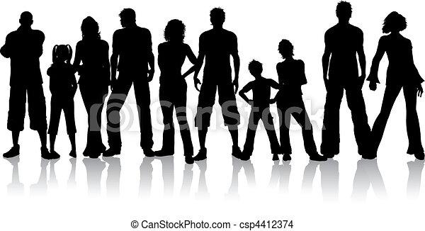 grupo, pessoas - csp4412374
