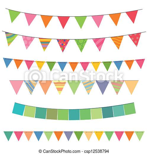 guirlandas, coloridos - csp12538794